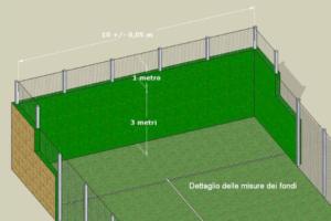 recinzioni campo padel